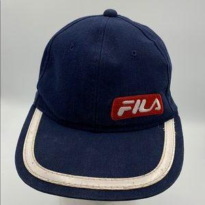 Vintage Fila Snapback Embroidered #33 blue hat